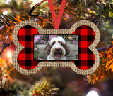 Christmas Ornament - Personalized Dog Bone