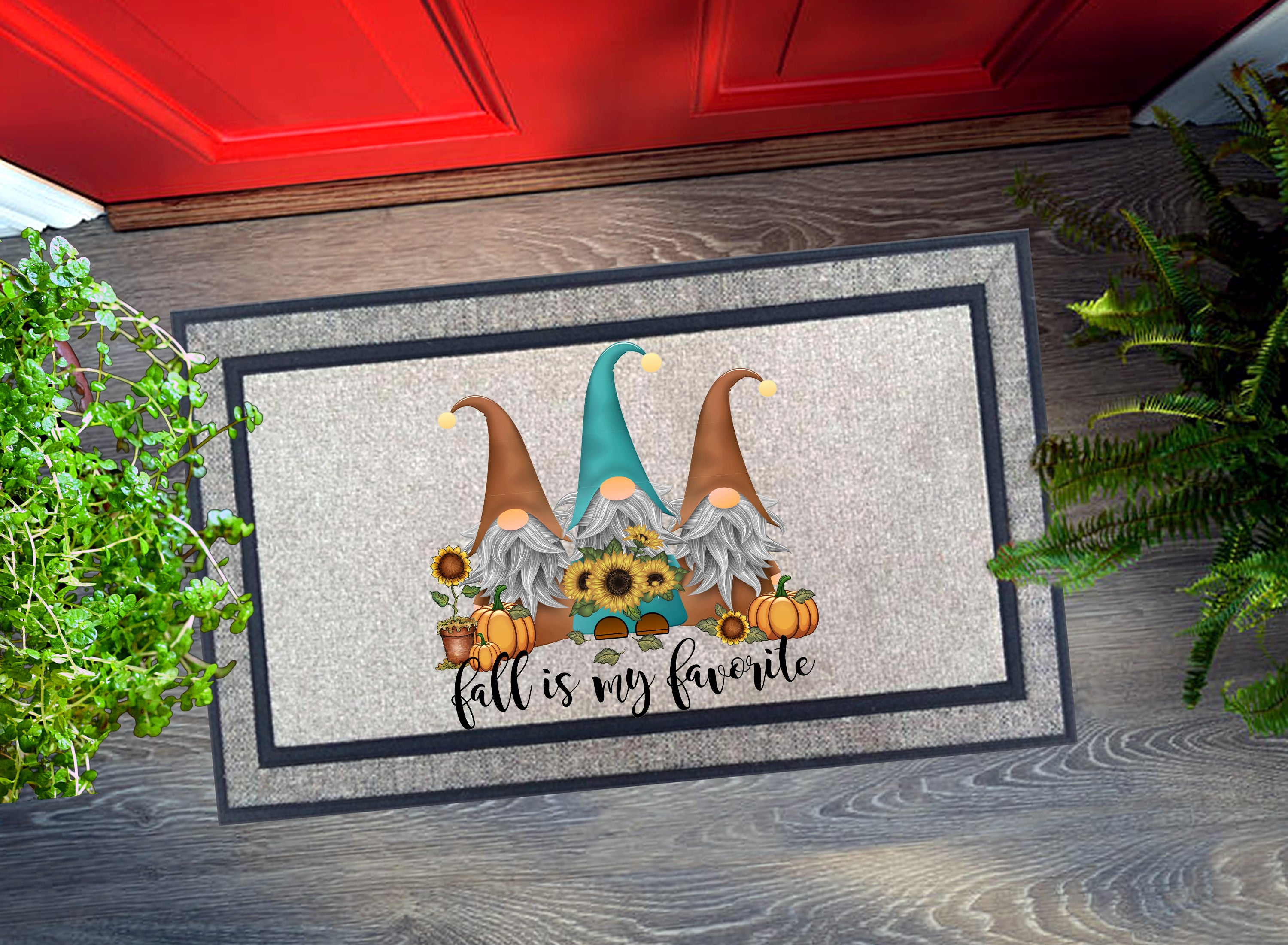 Welcome Mat - Fall Gnomes