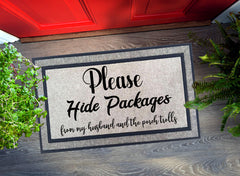 Welcome Mat - Please Hide PACKAGES