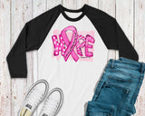 Women's Breast Cancer Shirt - Hope Ribbon