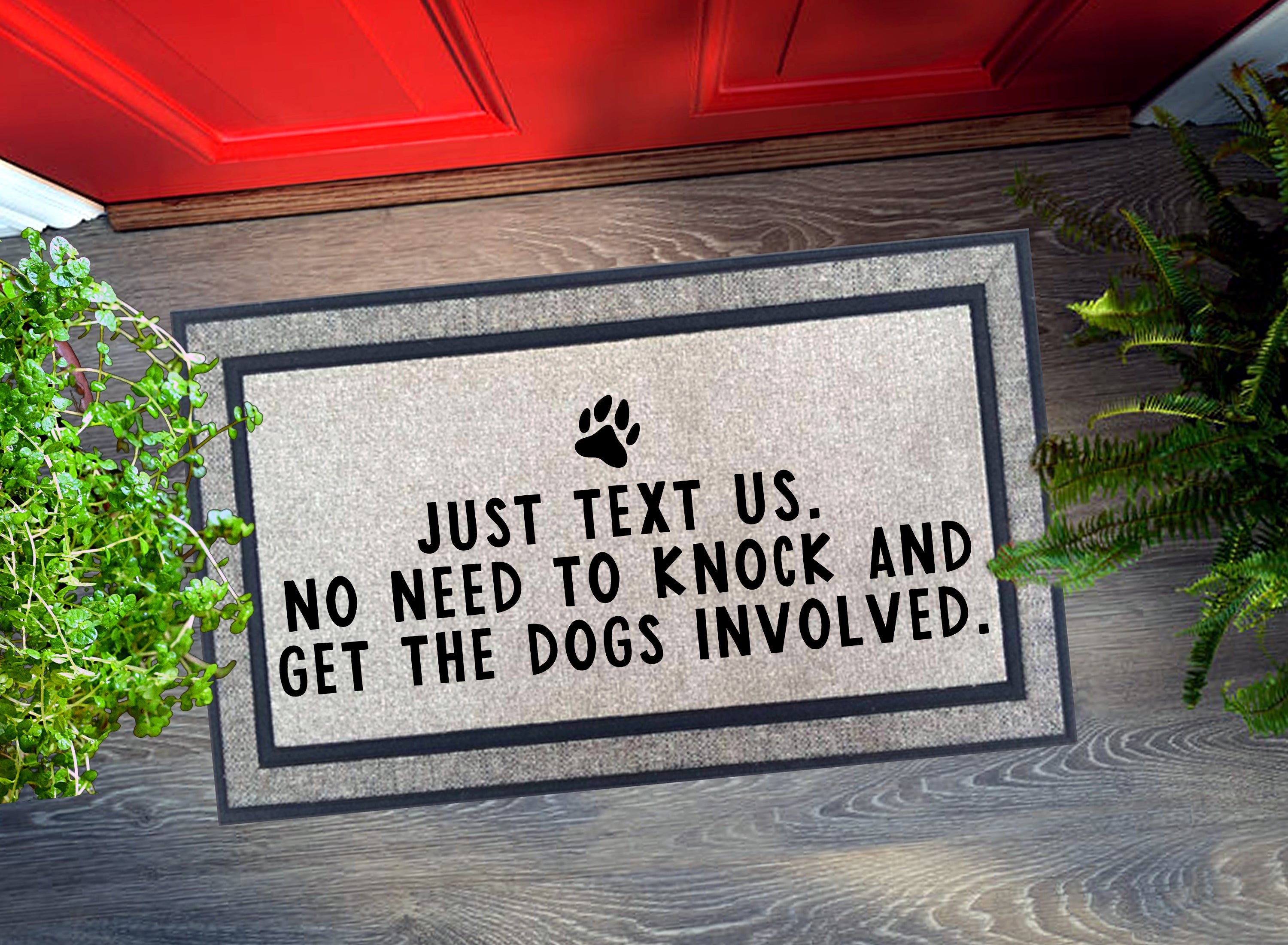 Welcome Mat - Just Text Us