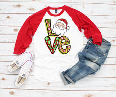Women's Christmas Shirt - Merry Christmas LOVE
