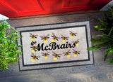 Welcome Mat - Personalized Family Fireflies
