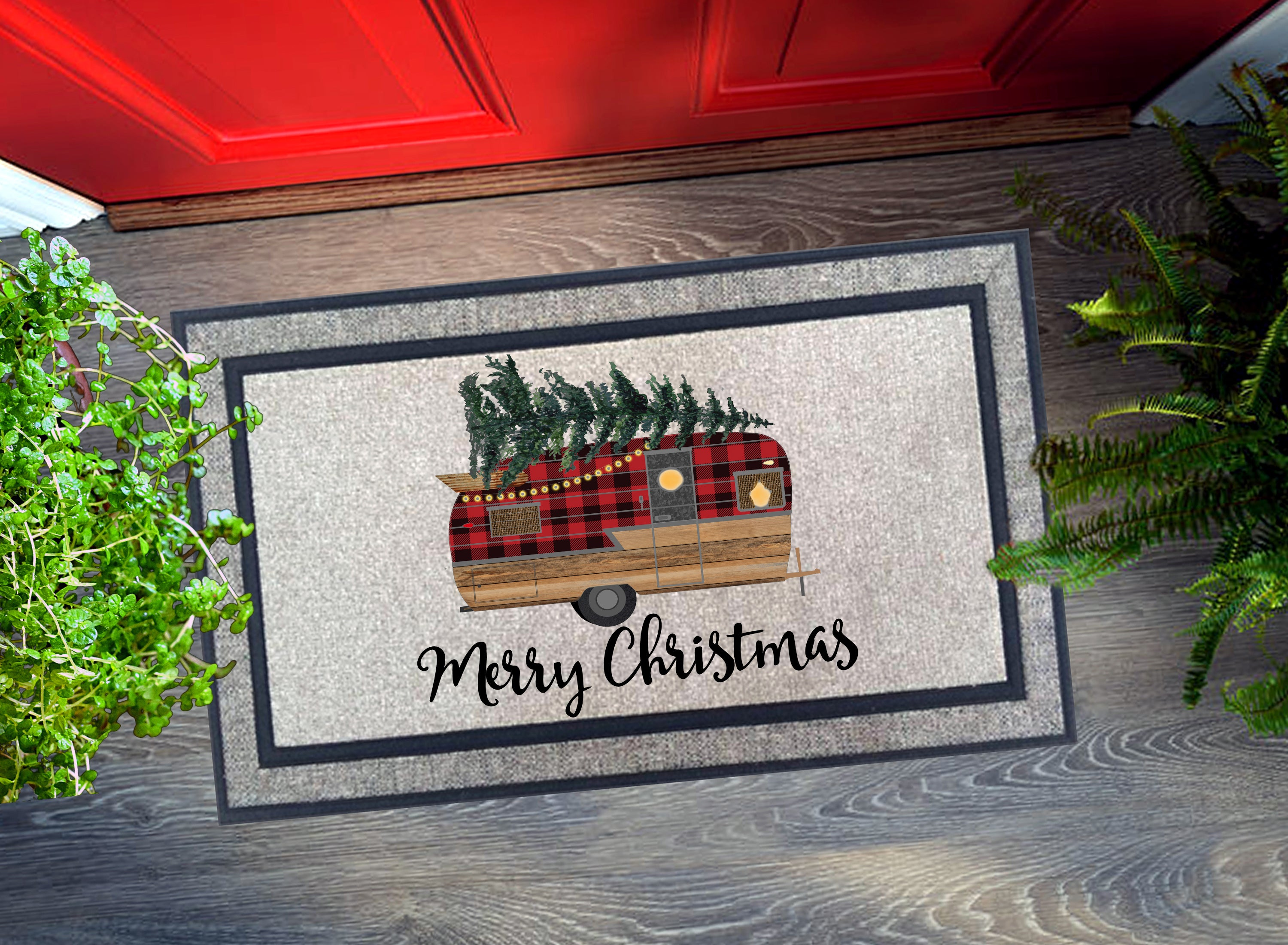 Welcome Mat - Merry Christmas Camper