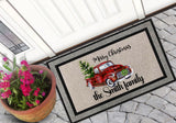 Welcome Mat - Personalized Christmas Truck