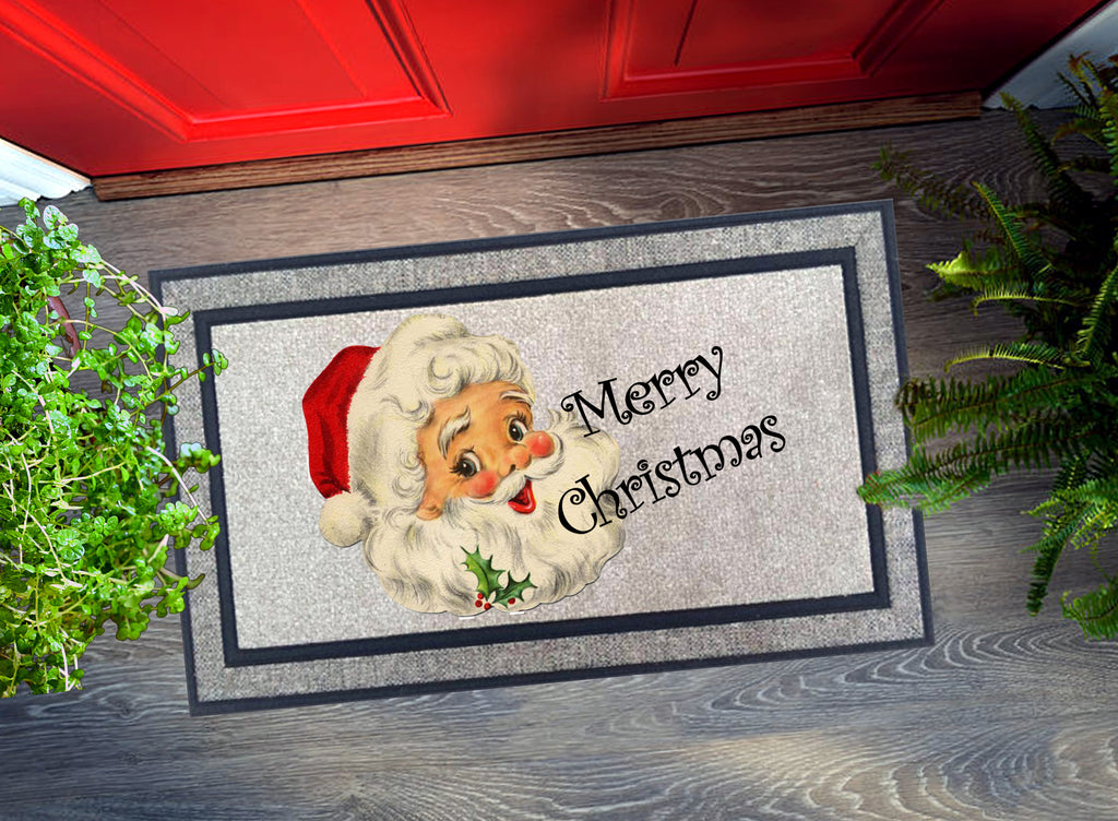Welcome Mat - Merry Christmas Santa