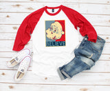 Women's Christmas Shirt -Santa Believe