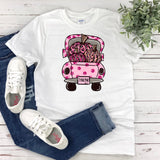 Women's Breast Cancer Shirt - Vintage Truck