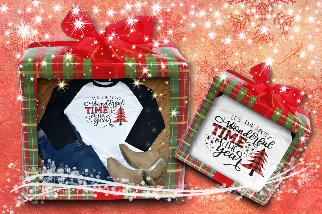 Women's Raglan Christmas Shirt - Most Wonderful Time of the Year