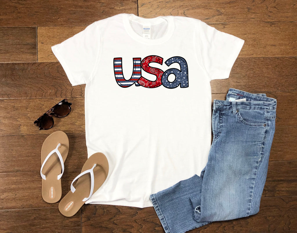 Women's July 4th USA - Tank or T-Shirt