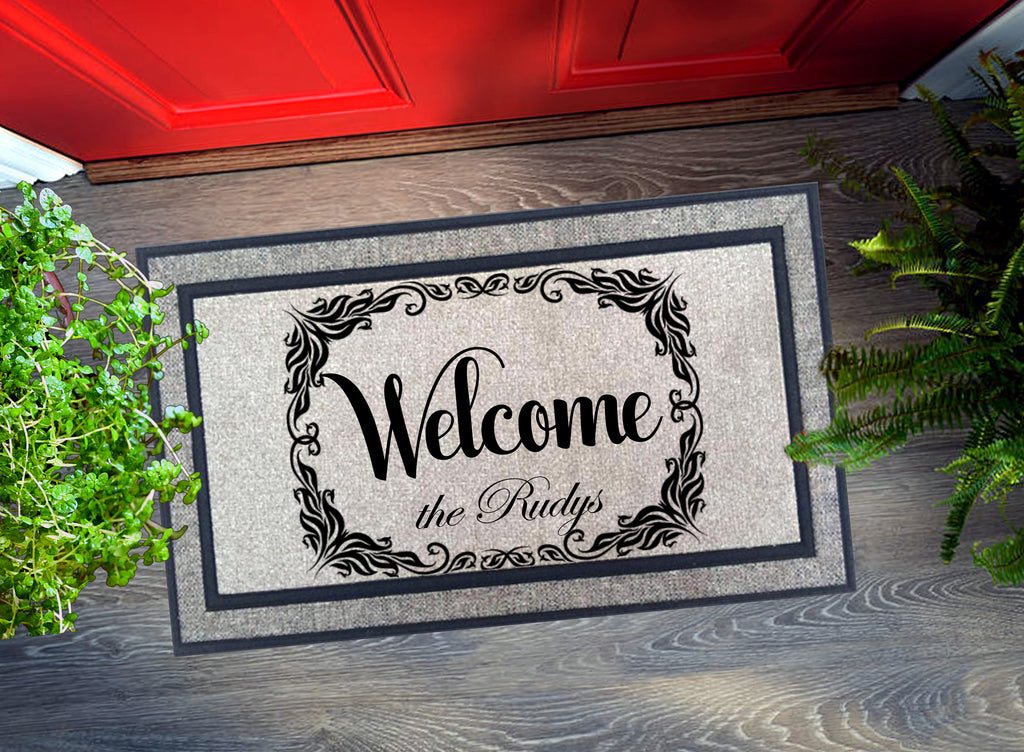 Welcome Mat - Personalized Welcome Family