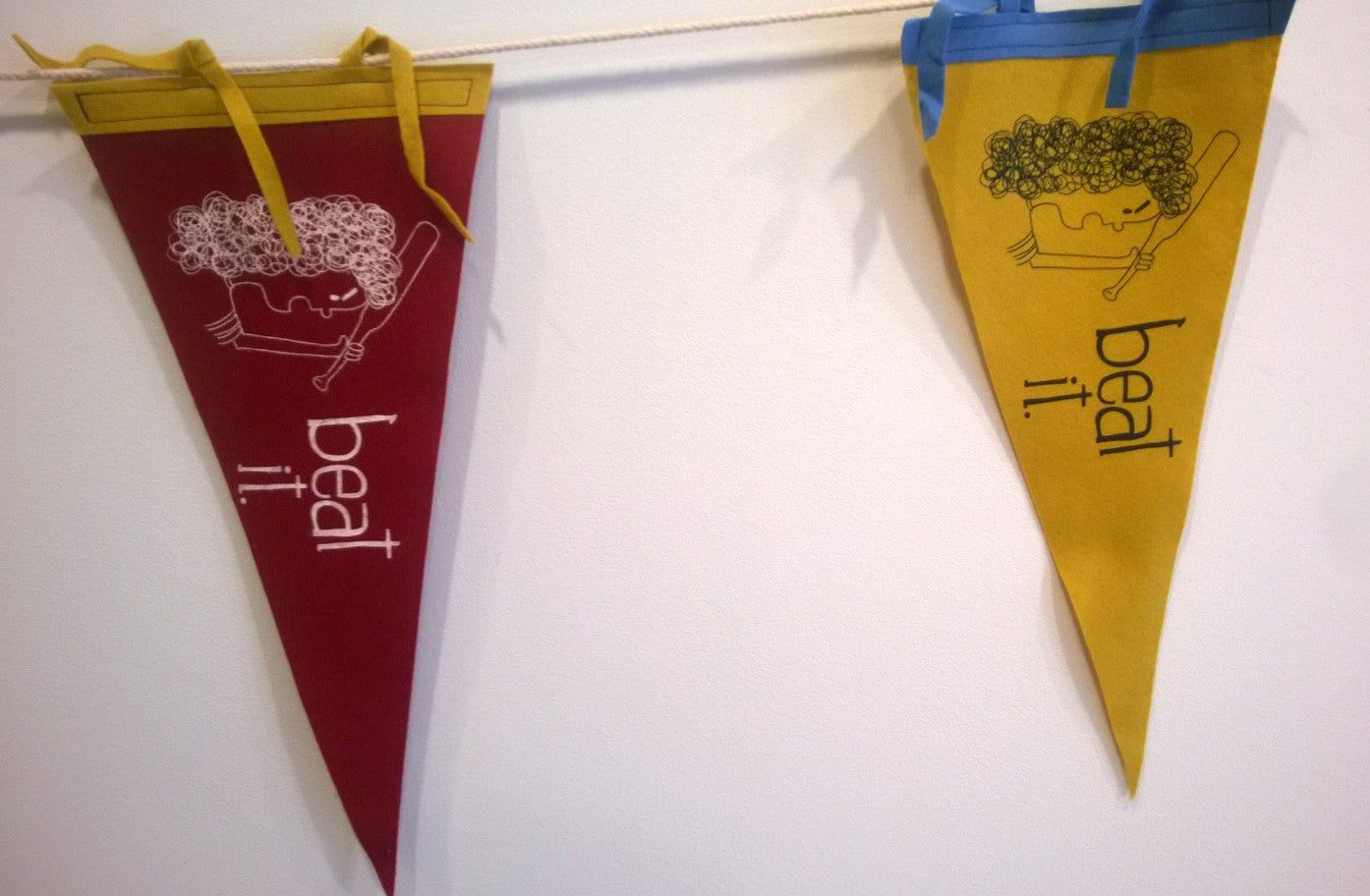 Beat It Pennant - by Heather Sundquist - Forage Space - 2