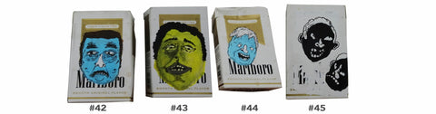 Paintings on Cigarette Boxes - Patrick Hirose at Forage Space in Narrowsburg, NY