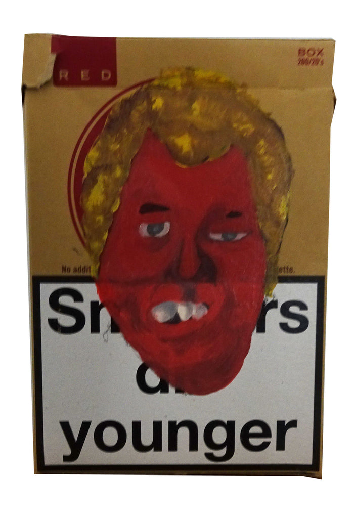 Paintings on Cigarette Carton - Patrick Hirose at Forage Space in Narrowsburg, NY