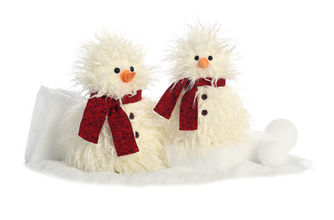 Aurora World High Quality Signature Premium Plush Holiday Christmas Snowman Scarf