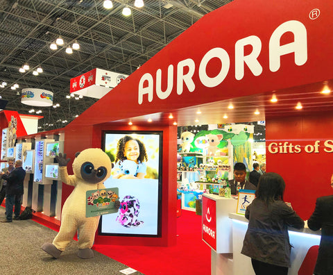 New York Toy Fair 2018 Booth Aurora World Plush Stuffed Animals