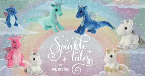 Aurora World Sparkle Tales Fantasy Unicorn Dragon Plush Stuffed Animals