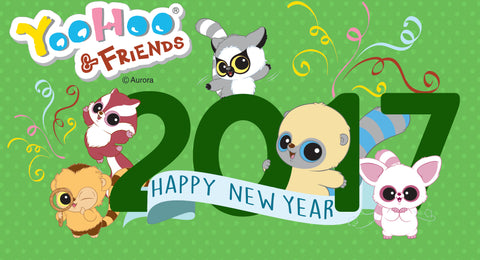 YooHoo & Friends 2017 Happy New Year Aurora World Plush