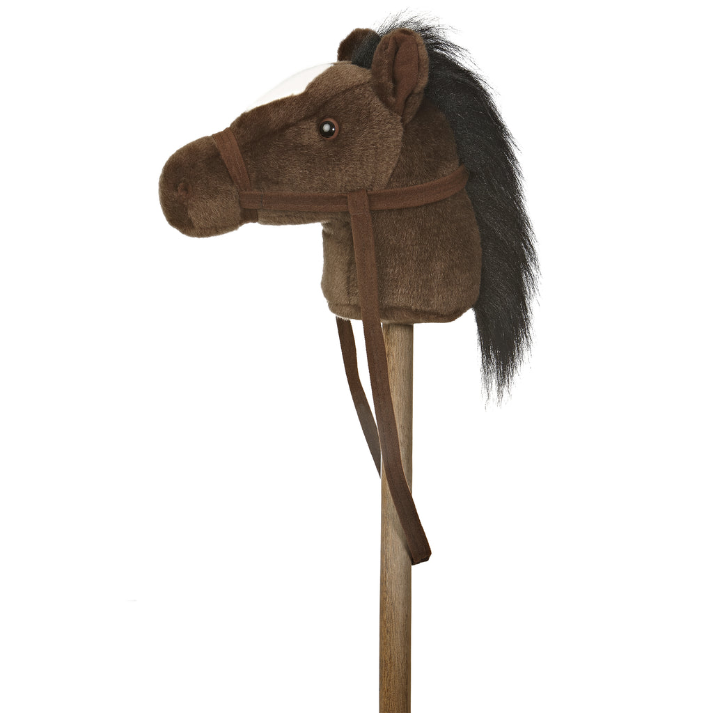 "Aurora Giddy Up Friends Stick Animals - 37"" Dark Brown Giddy Up Pony"