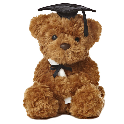 Aurora Wagner Graduation Bear Black 8.5""