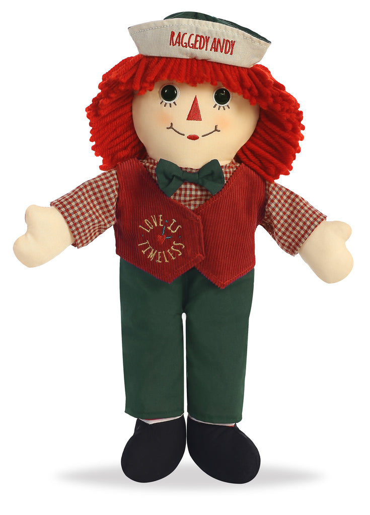 "Aurora Raggedy Ann & Andy - 16"" Love is Timeless Raggedy Andy"