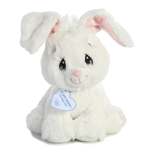 Aurora Precious Moments - Floppy Bunny White 8.5in