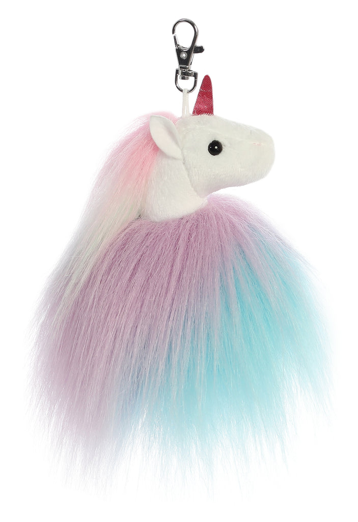 "Aurora Sparkle Tales - 5"" Tickle Unicorn Keyclip"