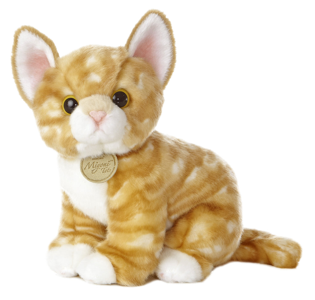 "Aurora Miyoni Tots - 10"" Orange Tabby Kitten"