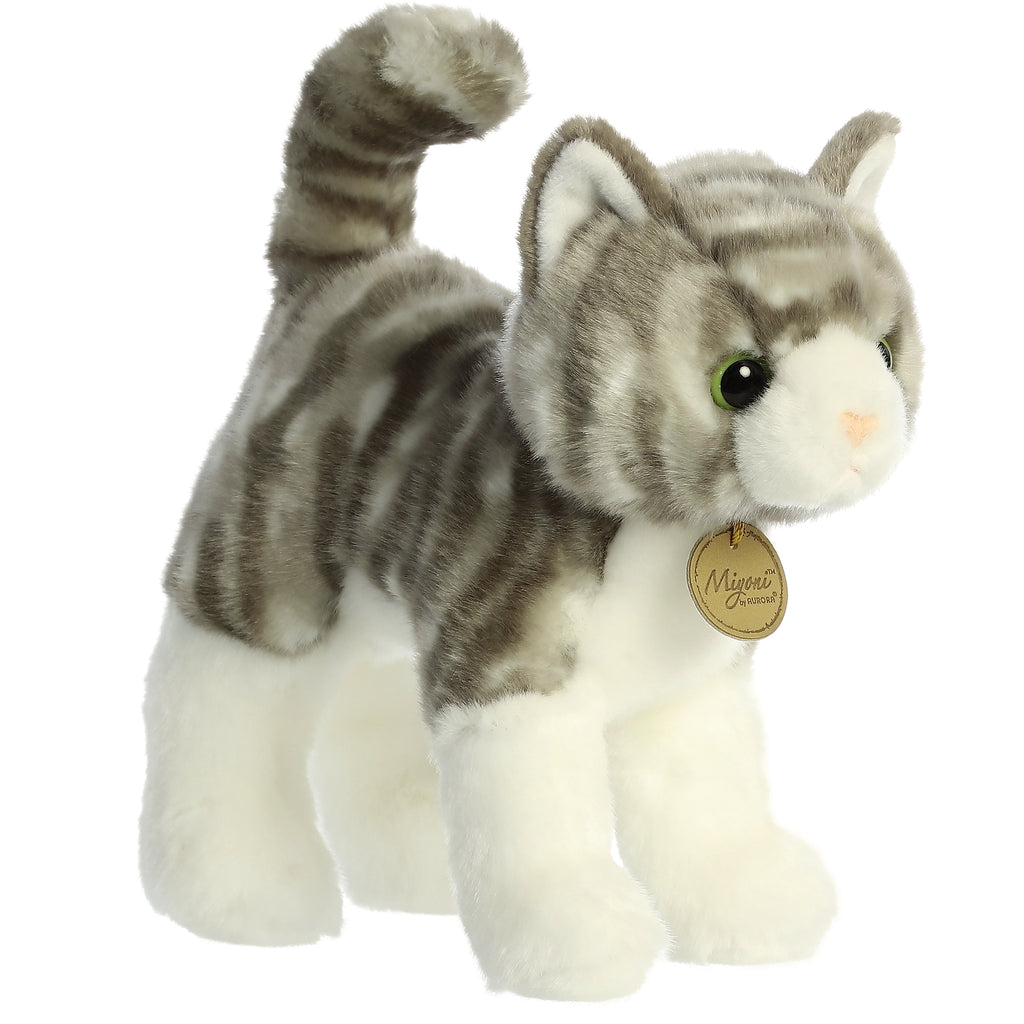 "Aurora Miyoni - 10"" Grey Tabby Cat"