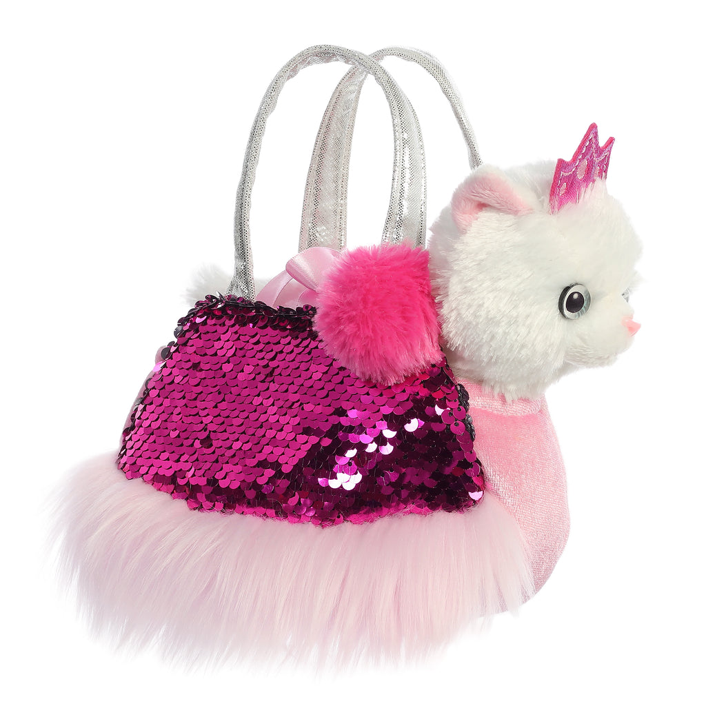 "Aurora Fancy Pals - 7"" Shimmers Princess Kitty Carrier"