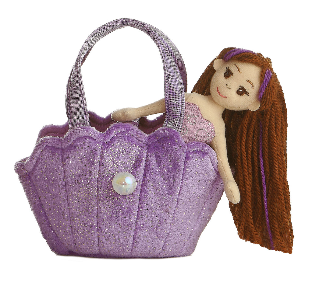 "Aurora Sea Sparkles Pet Carrier - 9"" Lavender Shell"