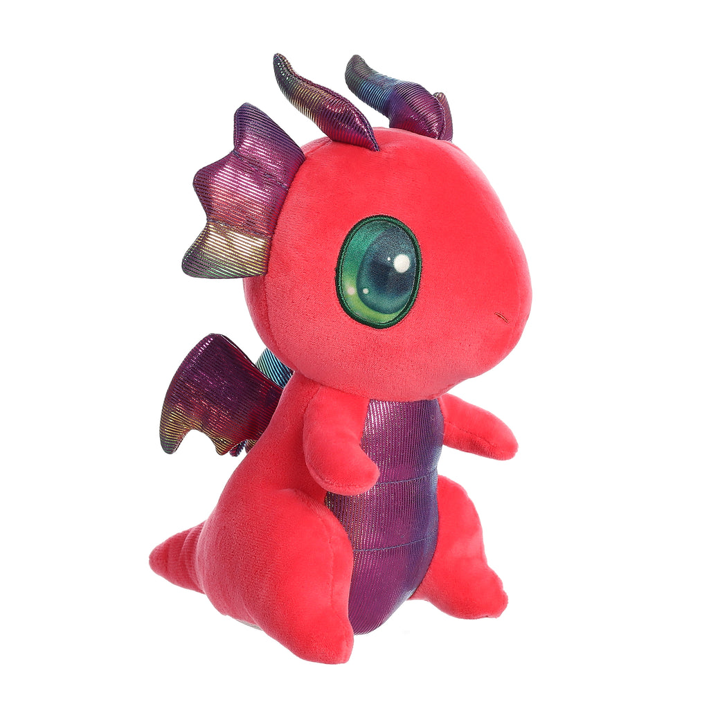"Aurora Light-Up Cuties - 9"" Shimmery Red Dragon"