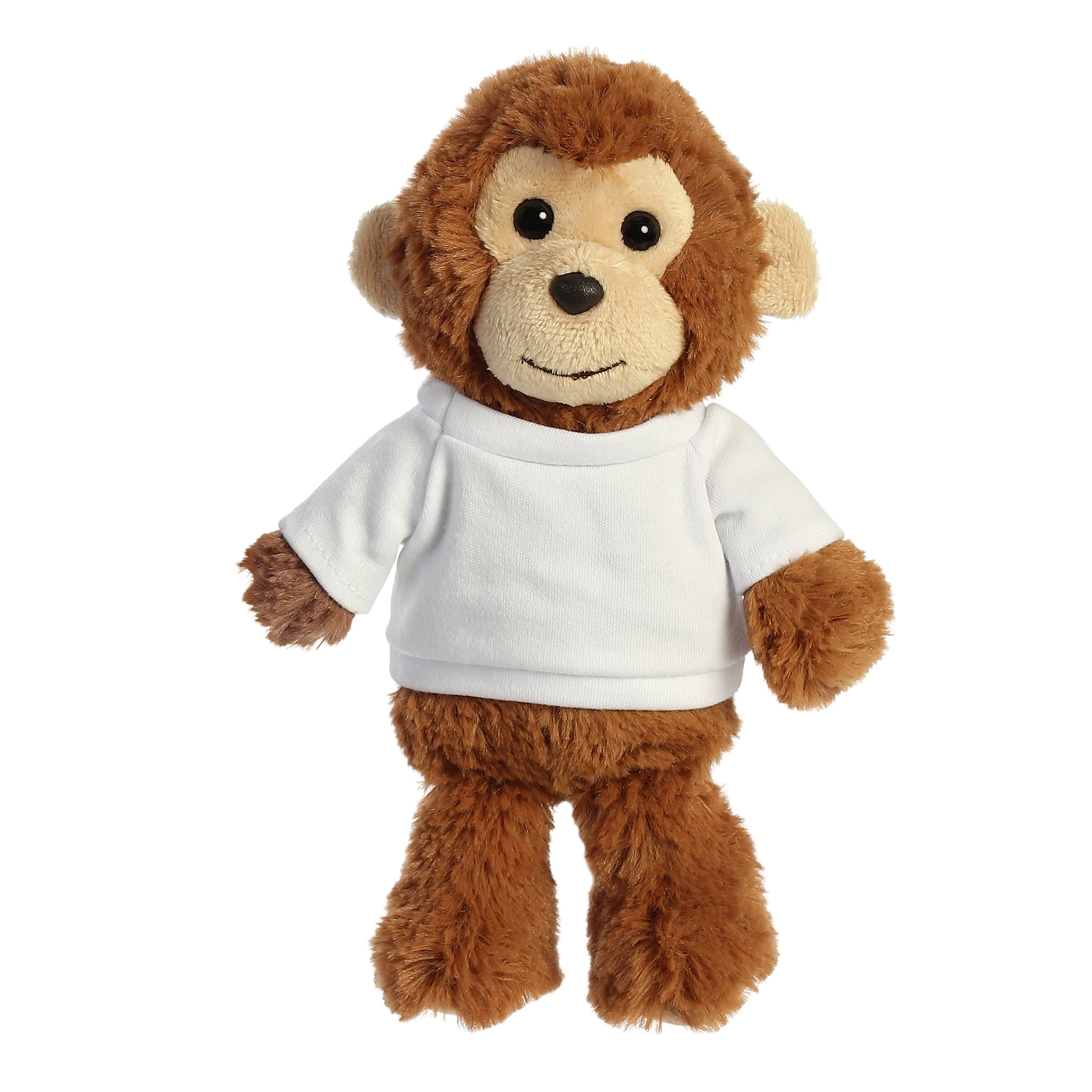 "Aurora Cuddly Friends - 8"" Monkey"