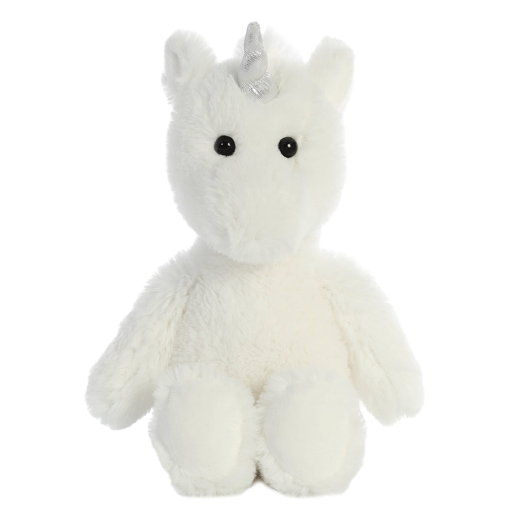 "Aurora Cuddly Friends - 12"" Unicorn White"