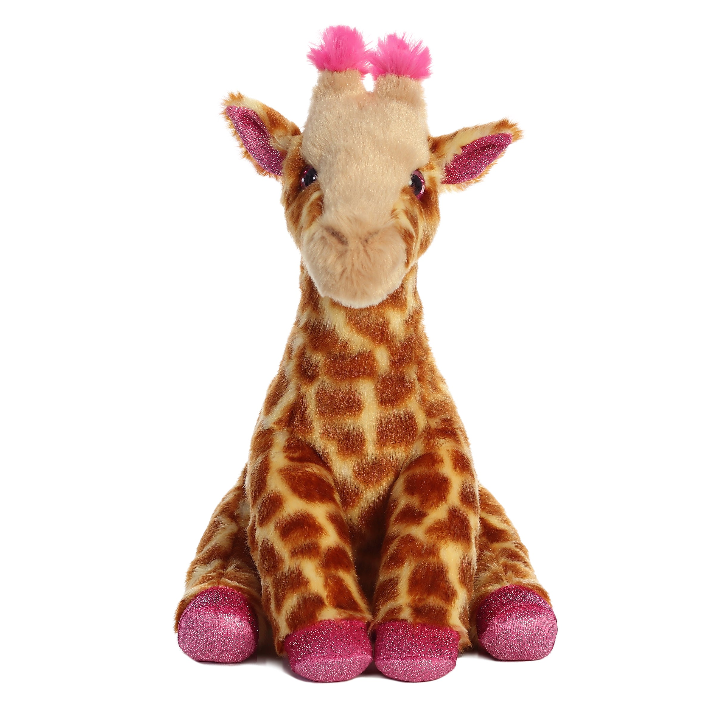 "Aurora Destination Nation Boutique - 12"" Giraffe Pink"