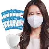 Aurora - Dr. Smile K - 10 or 20 Pack White Disposable Face Masks - Sizes: S/M or M/L