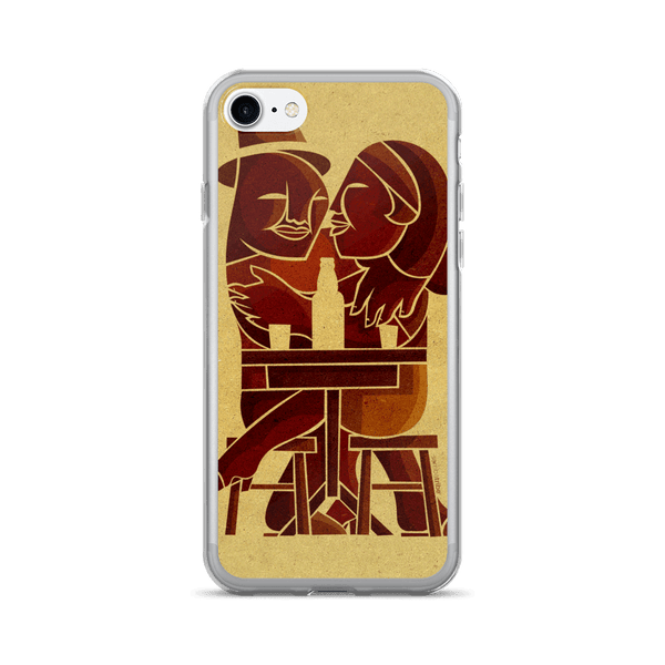 Couple at Bar iPhone case - Sambatribe