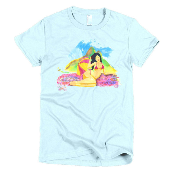 Rio Beauties women's t-shirt light blue