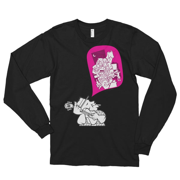 Samba Sing long sleeve t-shirt (unisex) black