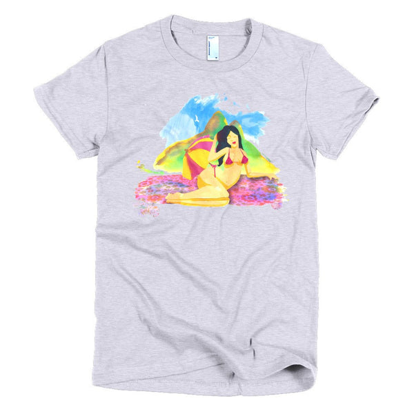 Rio Beauties women's t-shirt gray