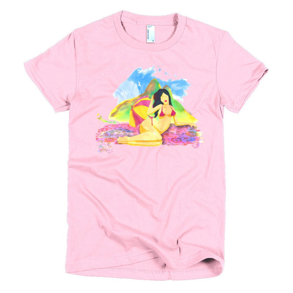 Rio Beauties women's t-shirt pink