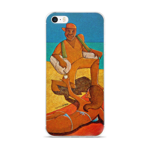 Woman with Caipirinha iPhone case