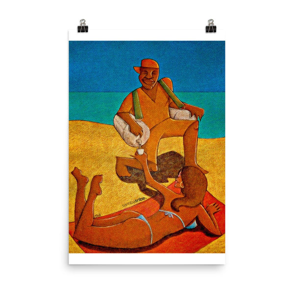 Beach Ice-Tea paper poster