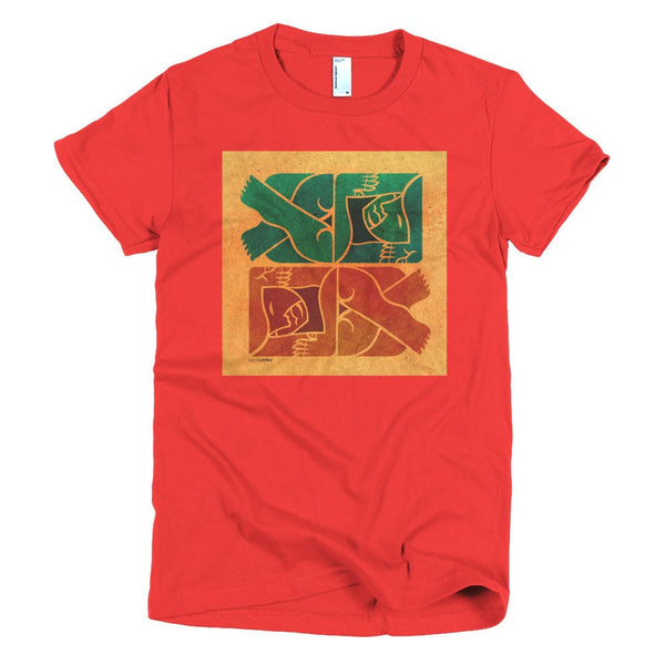 Symmetry on Sand women's t-shirt red