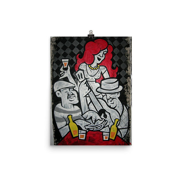 Red Hair Samba paper poster - Sambatribe