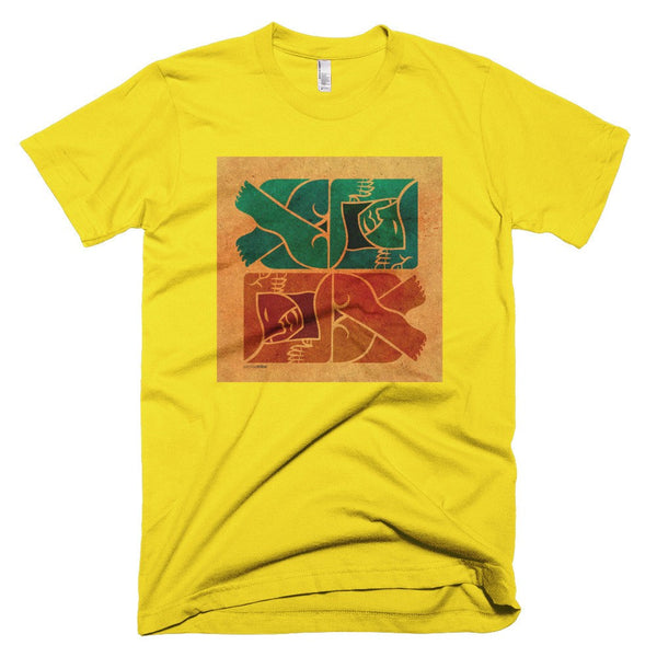 Symmetry on Sand men's t-shirt lemon yellow