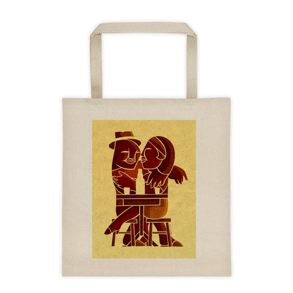 Couple at Bar tote bag