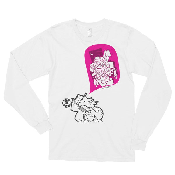 Samba Sing long sleeve t-shirt (unisex) white