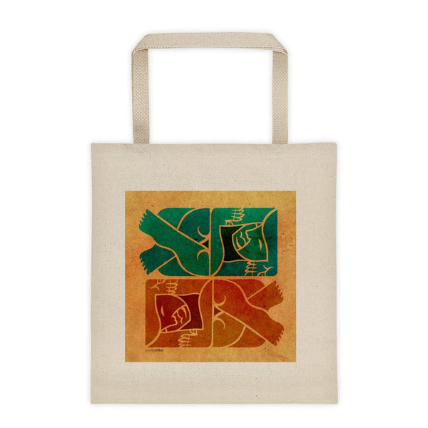 Symmetry on Sand tote bag