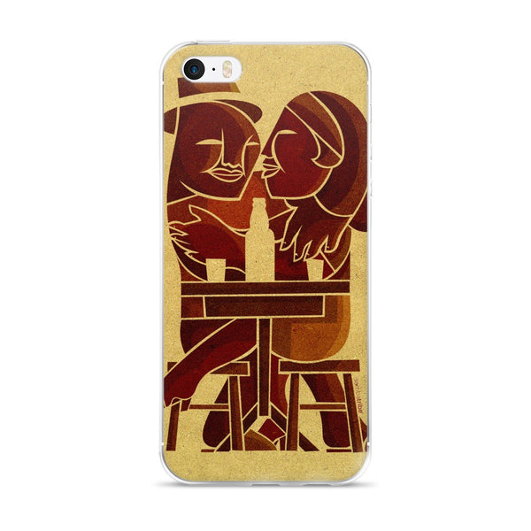 Couple at Bar iPhone case